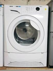ZANUSSI 8KG CONDENSER DRYER **3 MONTHS GUARANTEE FREE LOCAL DELIVERY**