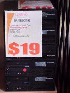 Barebone Lenovo Core 2 Duo System, NO hard drive, 2Gb RAM, No Windows License