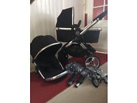 iCandy Peach 2 Black Majic Pram Pushchair CAN POST