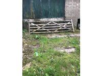 12ft wooden gate