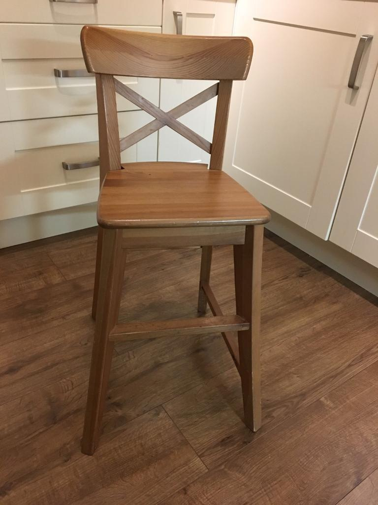 Ikea ingolf children 39 s junior chair in antique stain in - Silla junior ikea ...