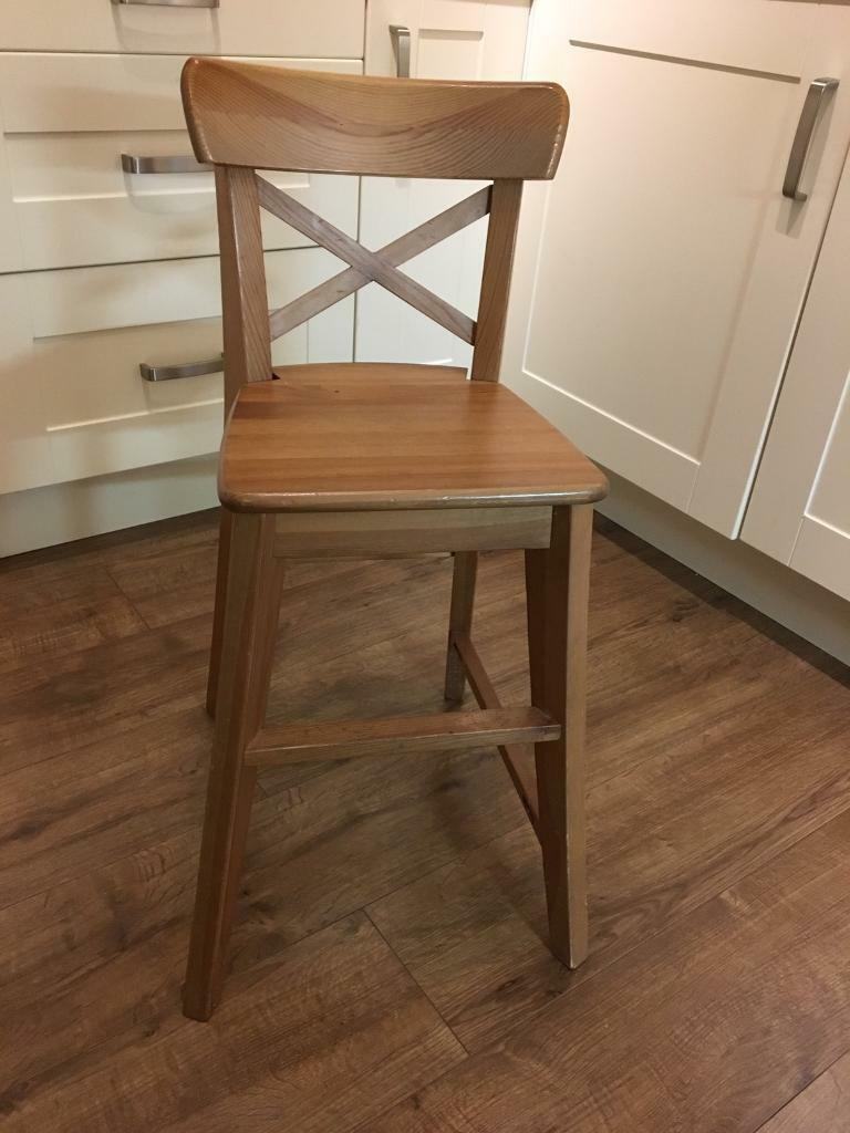 Ikea Ingolf Children S Junior Chair In Antique Stain In