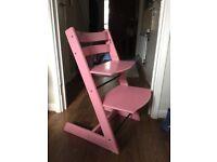 Pink Stokke Tripp Trapp chair in Kidbrooke
