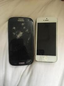 Samsung galaxy 3 and iPhone 5