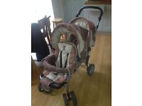 Tex Baby Double Pushchair Good Condition