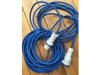 NEW Extension Lead Cable PAT Tested & Labelled Caravan / Boat / Camping Blue
