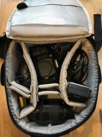 Canon EOS 7D, Lens 18-35mm, All cords, Extras: (battery, memory card) + bag