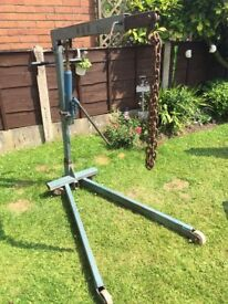 Weber Hydraulik Portable Floor Crane 300 and 500kg collection only £25 need gone asap