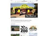 2 adult tickets for Noah's ark zoo farm - Bristol