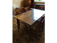 Vintage 1950s Dining table by Neil Morris of Glasgow