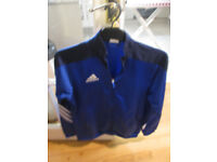 Adidas blue and navy tracksuit