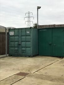 20' Foot Container for rent in secure Alarmed CCTV yard Billericay CM11 2UH 20 x 8 x 8; 07542 163230