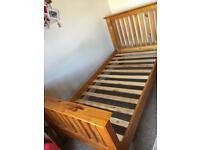 Single solid pine bed ****SOLD*****