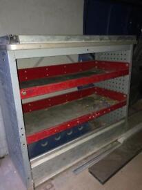 Van Shelving Racking Metal Unit