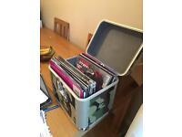 Case of vinyl records