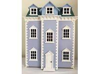 Blue Georgian Dolls House NEW!
