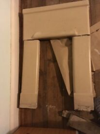 Solid 1930's fireplace surround