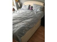 SUPER KING SIZE BED AND HEAD BOARD