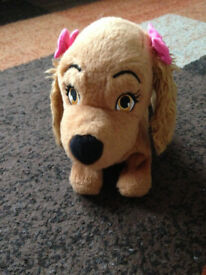 Lady and the Tramp Disney LADY Interactive Dog 22cms and Walks and Barks £4 WILL POST