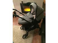 Grey silver cross pram and black silver cross seat