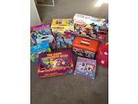 Bundle of 10 children's games, Meccano, puzzles etc, inc. instructions