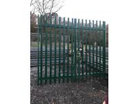 Palisade security gates 2.8 x 2.4m , Fencing, wrought iron, galvanised