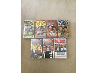 "VHS video tapes x 7 ""Bottom"" complete series 1 - 3 and live show"