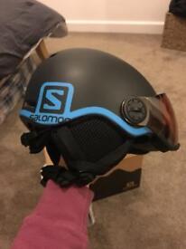Brand new kids Salomon Grom Visor helmet