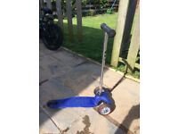 NOW SOLD_____Mini Micro T-Bar Scooter- Blue