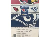 2 x NFL Tickets - Cardinals vs Rams - 22nd October 2017