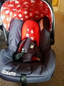 Cosatto car seat from birth