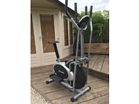 DTX Fitness 2 in 1 Elliptical Cross Trainer & Exercise Bike with Pulse Sensors
