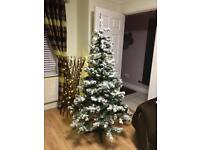 6ft pre lite Christmas tree with snow effect (Immaculate Condition) & Boxed