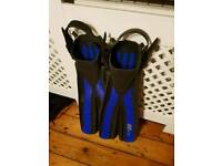 Small medium s/m scuba diving divers fins flippers ist bora bora