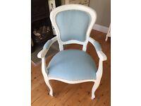 Beautifully restored bedroom chair