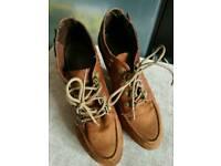 Ladies brown suede heels UK5.5