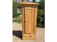 1 DOOR 1 DRAW PINE WARDROBE