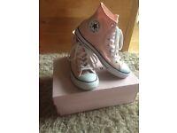 Womens Blush Converse Hi Allstar Baseball Shoes