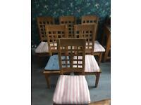 Six Oak Dining Chairs