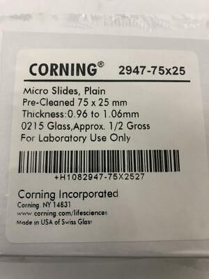 High Quality Corning Standard Microcope Slides Made In Us With Swiss Glass