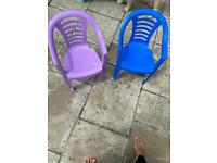 Little plastic chairs *free