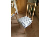 Set of 4 Dining Room Chairs including removable washable covers and cushion