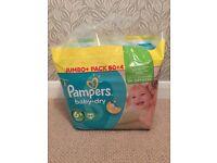 BNIB Pampers Baby Dry 6+ 64 Jumbo Pack