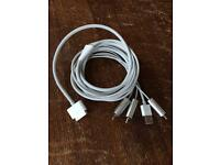 iPad to TV Cable Gold RCA AV 1.52m 5ft
