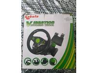 Ps4/ps3/pc steering wheel and pedals
