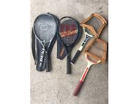 Collection of 4 Tennis Raquets