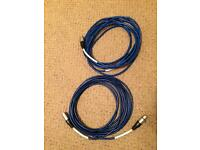 Two original Blue Microphone cables