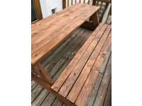 Wooden hand made bench