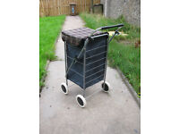 Four Wheeled Shopping Trolley - multicoloured - excellent condition.