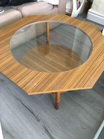 Retro octagonal coffee table for sale.
